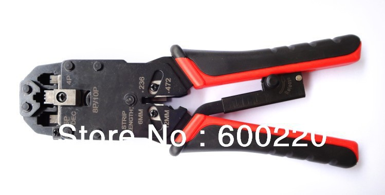 Modular crimping plier RJ11, RJ12 ,RJ45 crimping tool, cable cutting tool, wire stipper 10P/8P/6P/4P LT-200AR(China (Mainland))