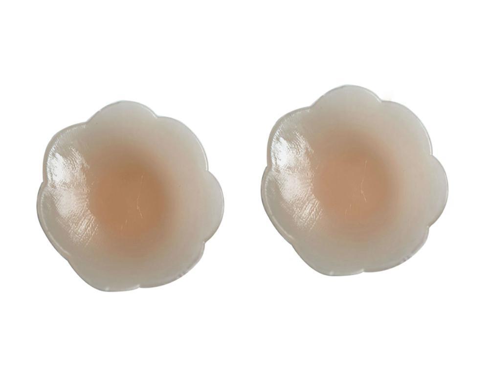 No Pain Self Adhesive Silicone Reusable Breast Petals Invisable Boob Pasties,Nude(China (Mainland))