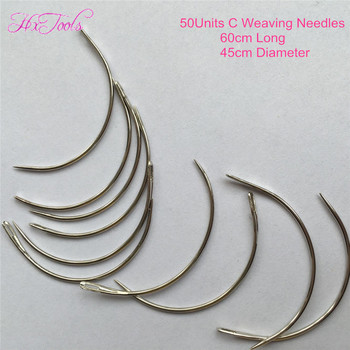 6cm Hair Weaving Needles 50Units Curved Sewing Needles 60mm C Shape Weaving Needles Wholesale C Type Needles of Weaving