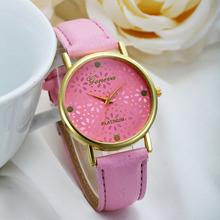 2015 Hot&New! 1 PC Vogue Women Watch Leather Band Snowflake Dial Print Quartz Analog Wristwatch Top Brand Clocks Factory Price(China (Mainland))