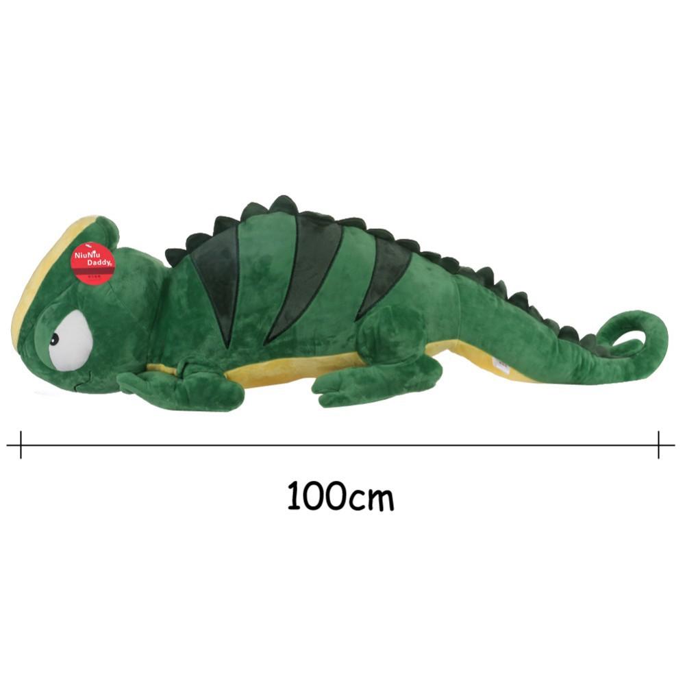 Giant inexperienced lizard plush toy pillow cushion stuffed animal doll birthday reward 100 CM