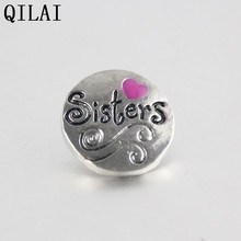 Buy Heart 18mm snap button metal sisters Fashion snaps jewelry bracelet 10pcs /lot snap burron charm for $6.03 in AliExpress store
