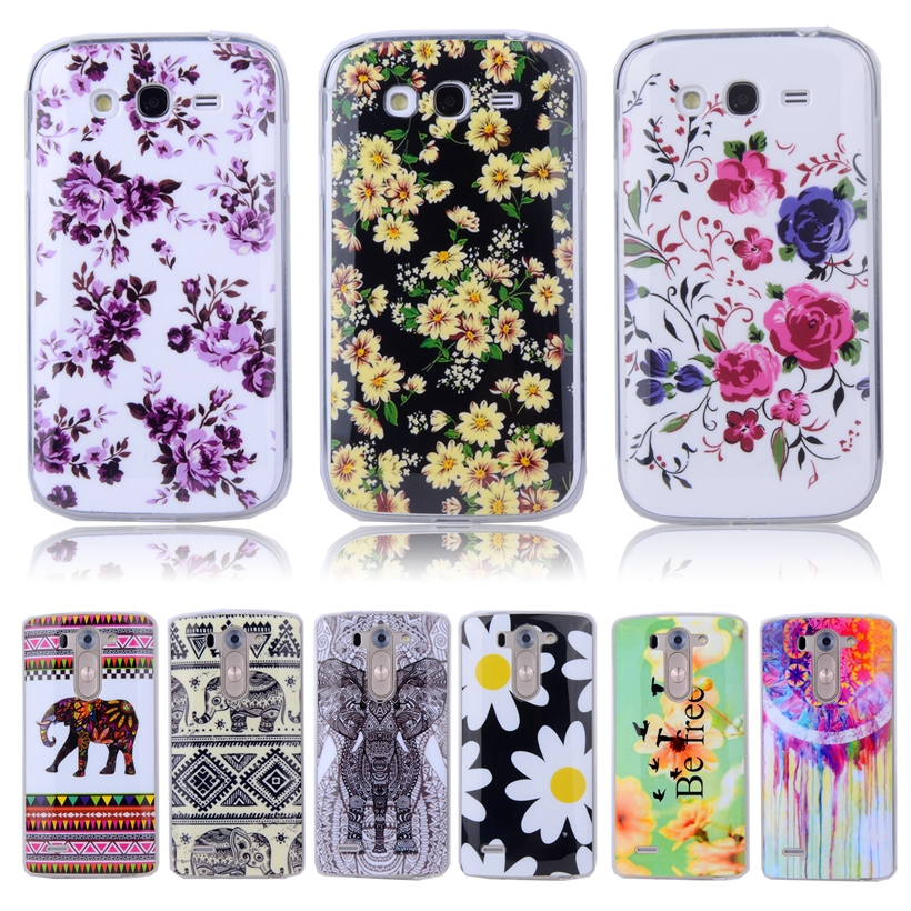 Lovely Soft TPU Silicone Case With Flowers Plastic Cover For SAMSUNG Galaxy Grand Duos i9082 NEO i9060 I9063 Mobile Phone Case(China (Mainland))