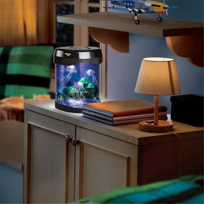 Home Decor Colorful LED Jellyfish Tank Sea World Swimming Mood Lamp Nightlight<br><br>Aliexpress
