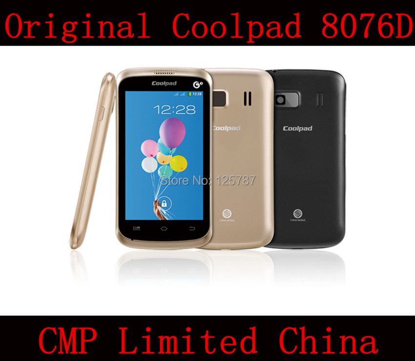 DHL Fast Delivery Coolpad 8076D 4 Inch SC8825 Dual Core Android 4.0 256MB RAM 512MB ROM 2MP Dual Sim Cell Phone(China (Mainland))
