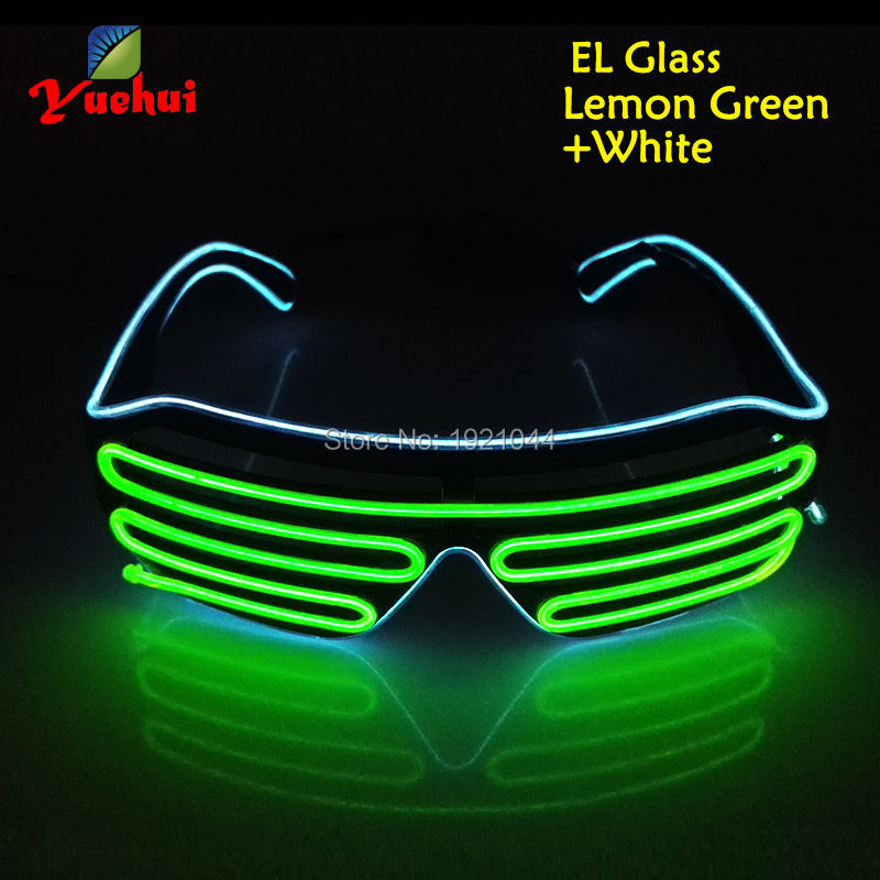2017 New Cold Light Party Decoration Powered By DC-3V Steady on EL Wire Lemon Green and Blue Glasses Tube Rope Flexible Neon