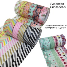 DECORA 20 Rolls 15mm*10m Japanese Washi Decorative Adhesive Tape(Accept Select Design)(China (Mainland))