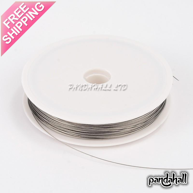 Tiger Tail Wire Spool, Stainless Wire, LightGrey, 0.45mm; about 50m/roll(China (Mainland))
