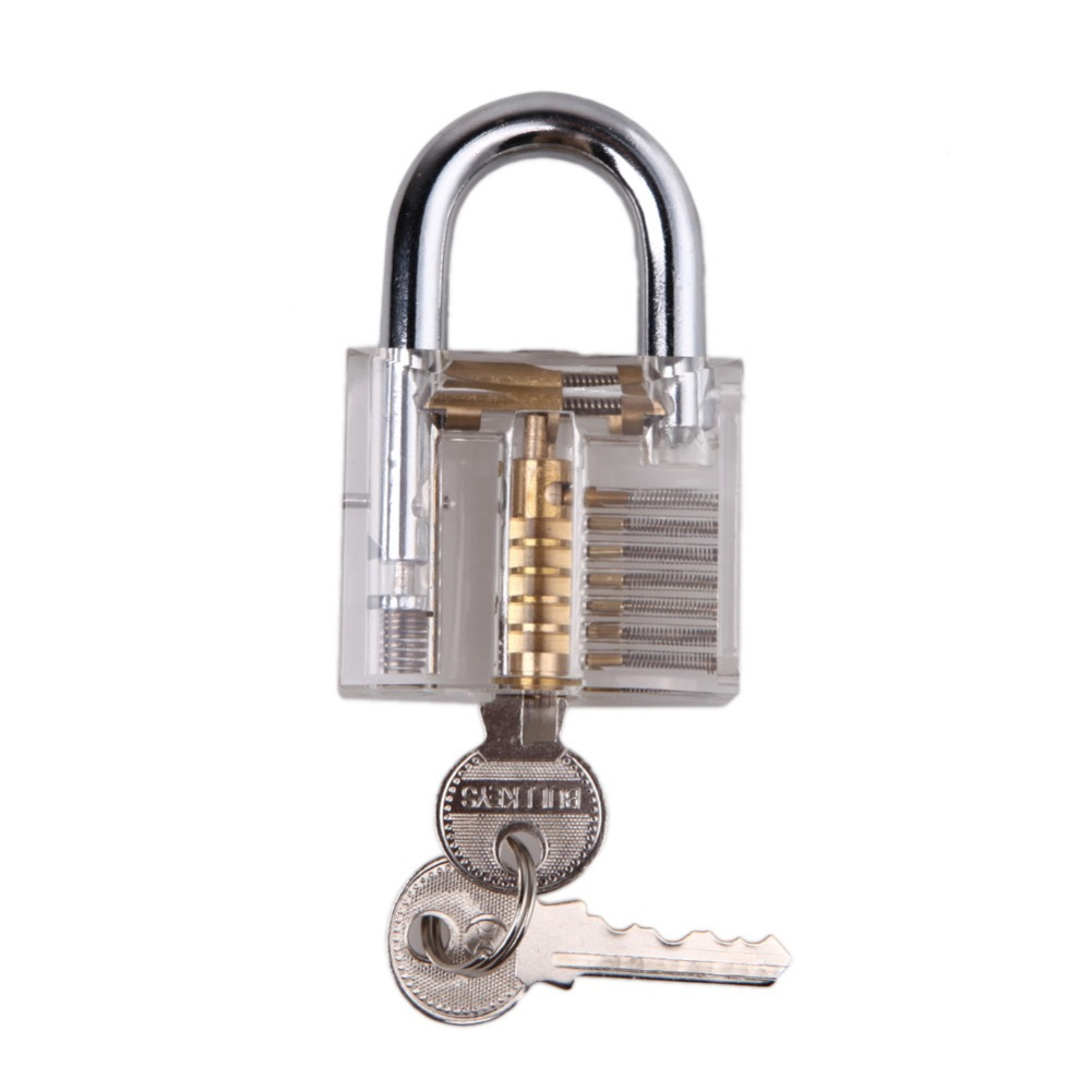 Гаджет  Transparent Pick Cutaway Inside View Padlock Lock For Locks mith Practice Training Skill Free Shipping  None Аппаратные средства