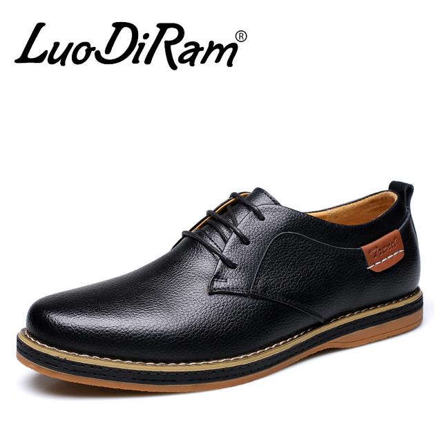 LuoDiRam Бренд Высокого Качества Оксфорд Обувь Для Мужчин, люксовый Бренд Мужчины ...