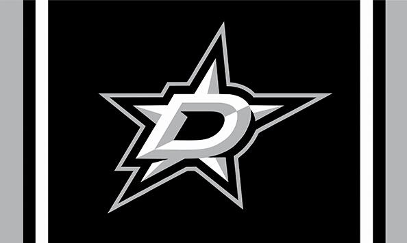 Dallas Stars custom flag 3ftx5ft polyester white sleeve with 2 Metal Grommets 3ft x 5ft(China (Mainland))