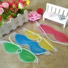 Summer Style Dark Circles Removal Eye Fatigue Relif Eye Gel Ice Goggles Sleep Masks Random Color(China (Mainland))