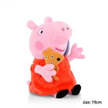 19/30cm Original Peppa Mãe E Pai Pig Plush Toy Stuffed Animal Plush Toy Figuras de Ação para Crianças Do Bebê brinquedo de Presente de Aniversário(China)
