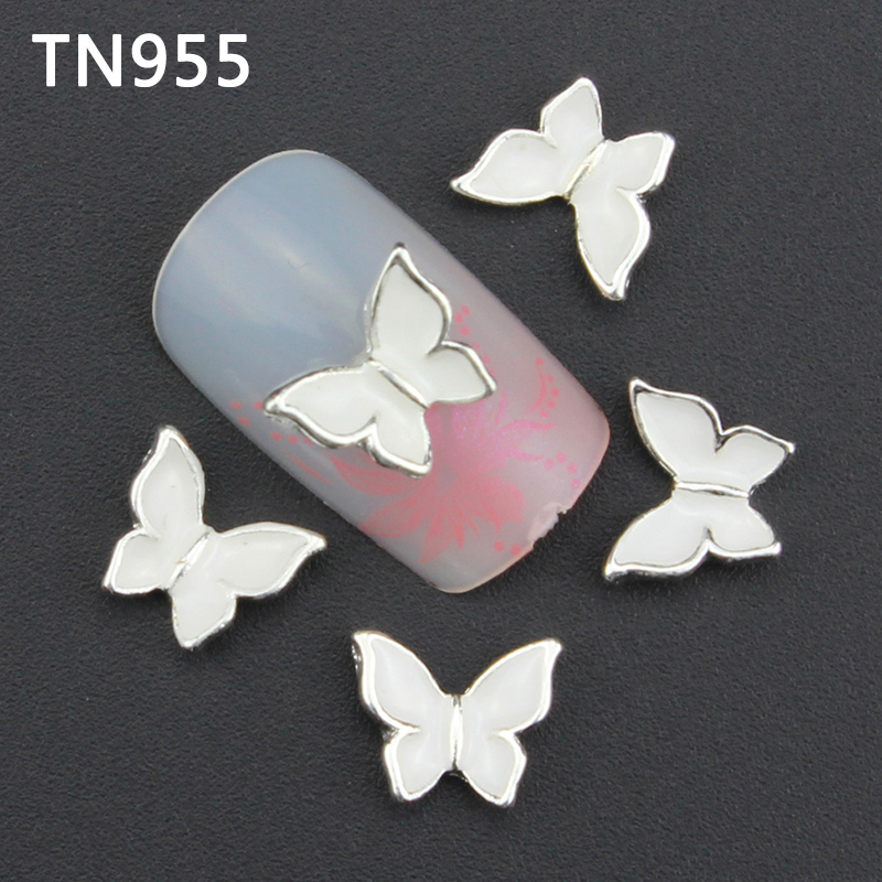 10pc Glitter Butterfly Rhinestones 3d Nail Art Decorations New Arrive, Alloy Nail Charms Jewelry for Nail Gel/Polish Tools TN955<br><br>Aliexpress