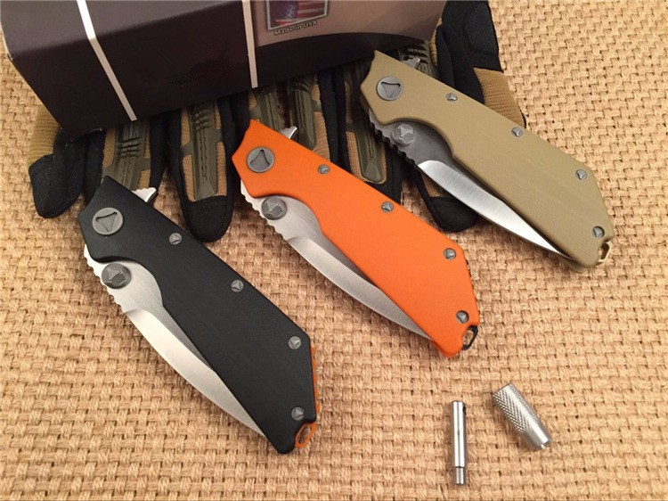 Buy New tactical folding knife DOC D2 blade G10 handle camping hunting pocket survival gift knives utility EDC hand tools faca cheap