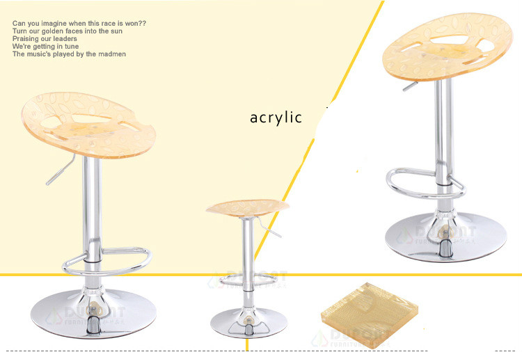 wholesale recommend new fashion simple acrylic bar chair high chair foot restaurant rafe stool chair