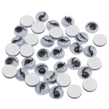 With Self-adhesive 200PCS/lot 8MM  Dolls Eye With eyelashes  Googly Safety Eye For Toys Used For DIY Scrapbooking Crafts(China (Mainland))