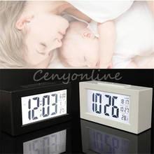 Fashion Stylish Multi-functian big Digital Snooze Alarm Clock Light Thermometer LED Backlight Large LCD Display With Calendar