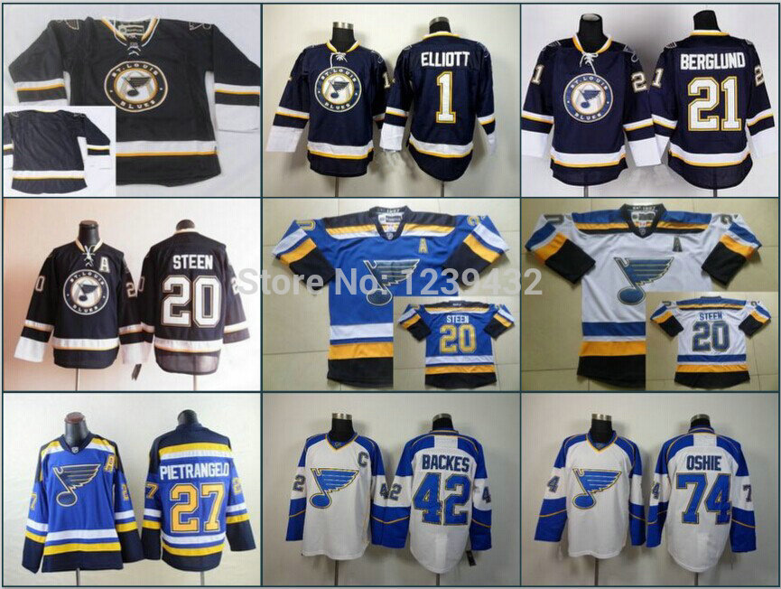 Cheap 2015 Blues Blank No Name No Number etc Navy Light Blue White Road Ice Hockey Jersey Stitched Authentic Sports Sweatshirt(China (Mainland))