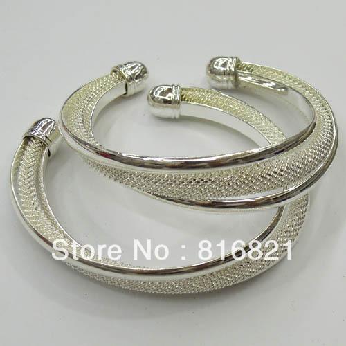 65mm New Silver plated Brass Blank Bases Mesh cuff Bracelet Bangle Settings Wholesale(China (Mainland))