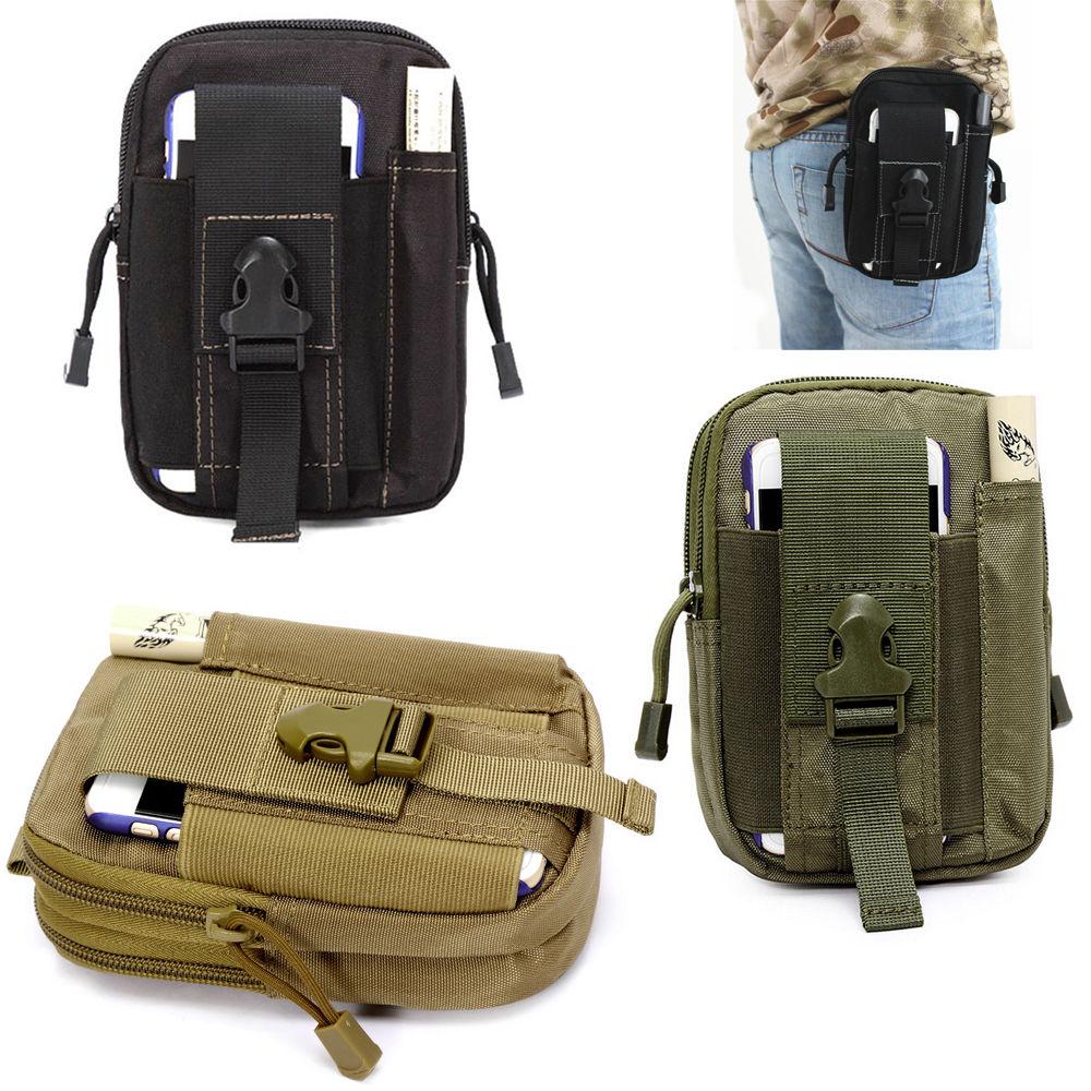Military Waist Bag Camouflage Small Waist Bag Fanny Pack Waterproof Nylon Mobile Phone Bag Unisex Mini Army Waist Pouch Bag(China (Mainland))