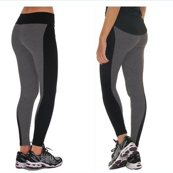 S-XL Summer-Autumn Woman Sport Leggings Fashion Black Gray High Waisted Stretched Leggings Gym Finess Running Workout Leggings