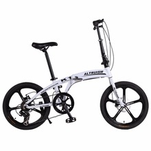 """Buy Altruism K1 Folding Bike 7 Speed Aluminum Mechanical Disc Brake Mountain Bikes Children 20inch Bicycle 20"""" 5 Spokes Bicycles for $297.48 in AliExpress store"""