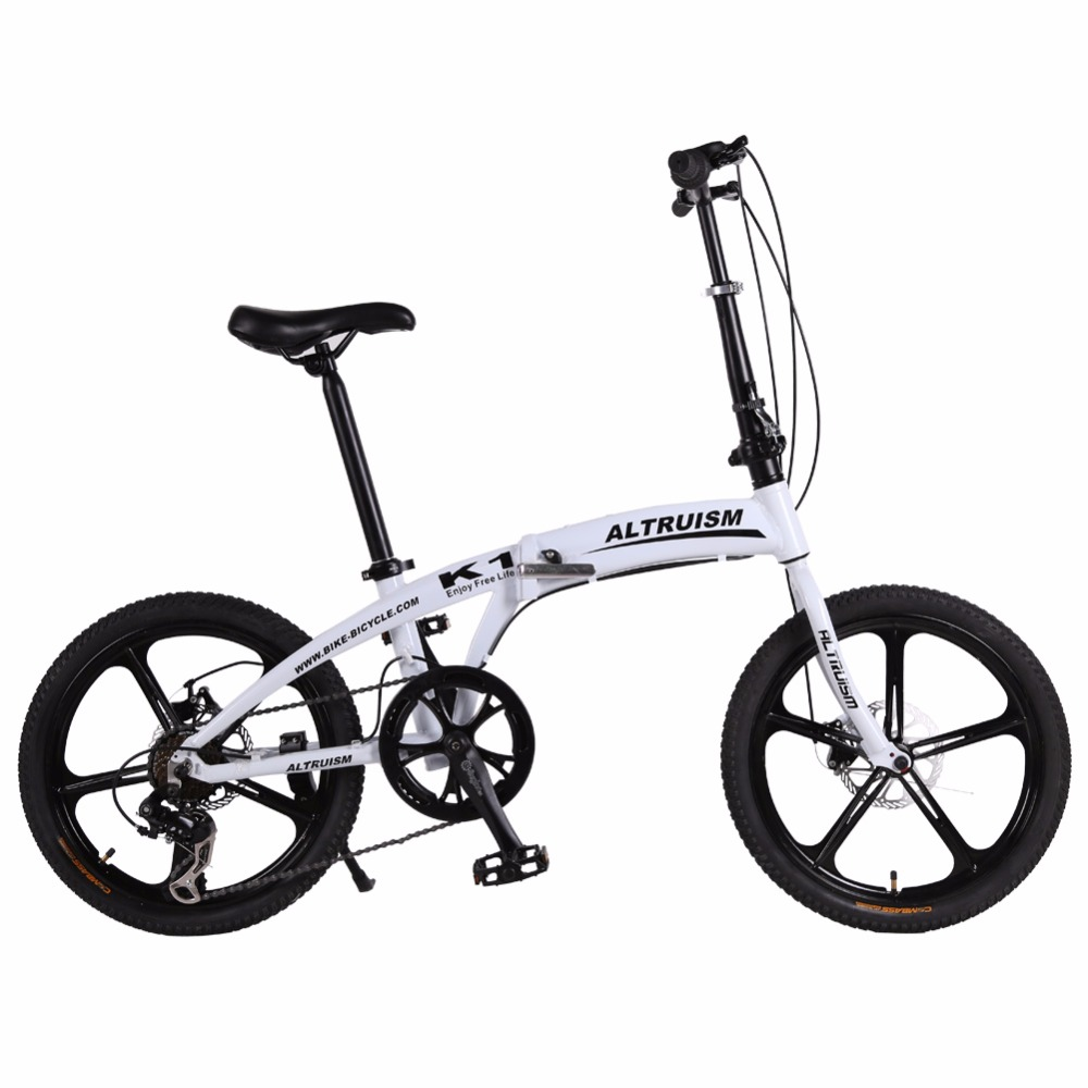 "Altruism K1 Folding Bike 7 Speed Aluminum Mechanical Disc Brake Mountain Bikes Children 20inch Bicycle 20"" 5 Spokes Bicycles(China (Mainland))"