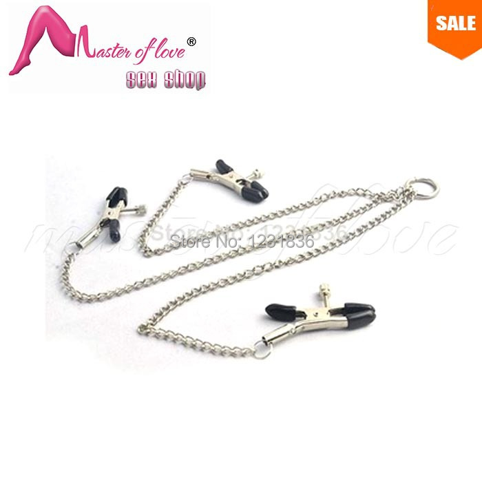 ML001 Sex Products Female Breast Clip + Clamp , Adult Sex Products Breast Massager Flirt Sex Toys For Couple(China (Mainland))