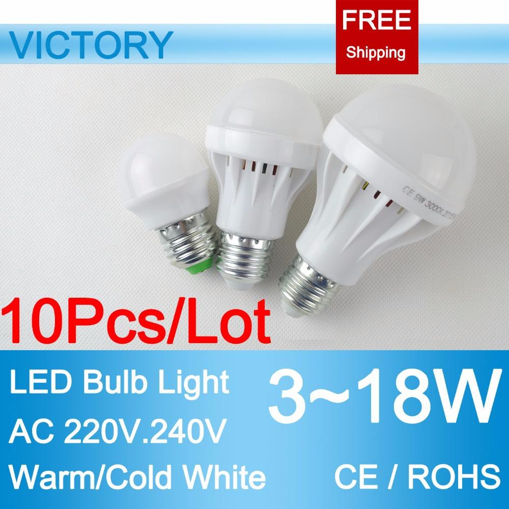 LED Lamp E27 10pcs LED Bulb Bubble Ball LED strip Spot Light 220V 240V 5630 SMD 18W 12W 9W 7W 5W 3W LED Spotlight Ceiling Lights(China (Mainland))