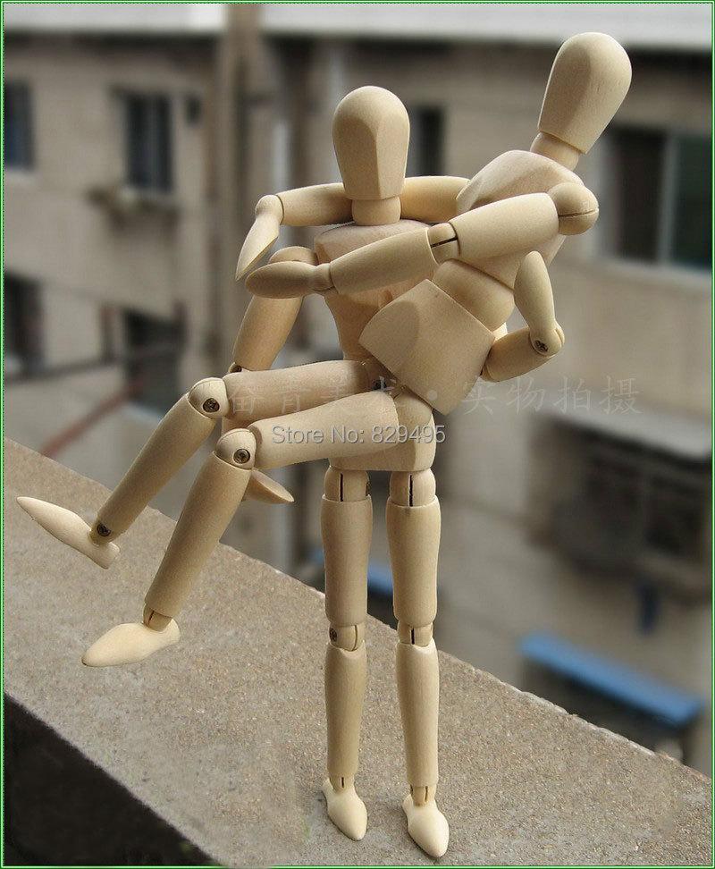 Flexible Wooden Human Mannequin 8 Inch Manikin Sketch Model Art/ARTIST Unisex Model Artist Drawing Manikin Articulated(China (Mainland))