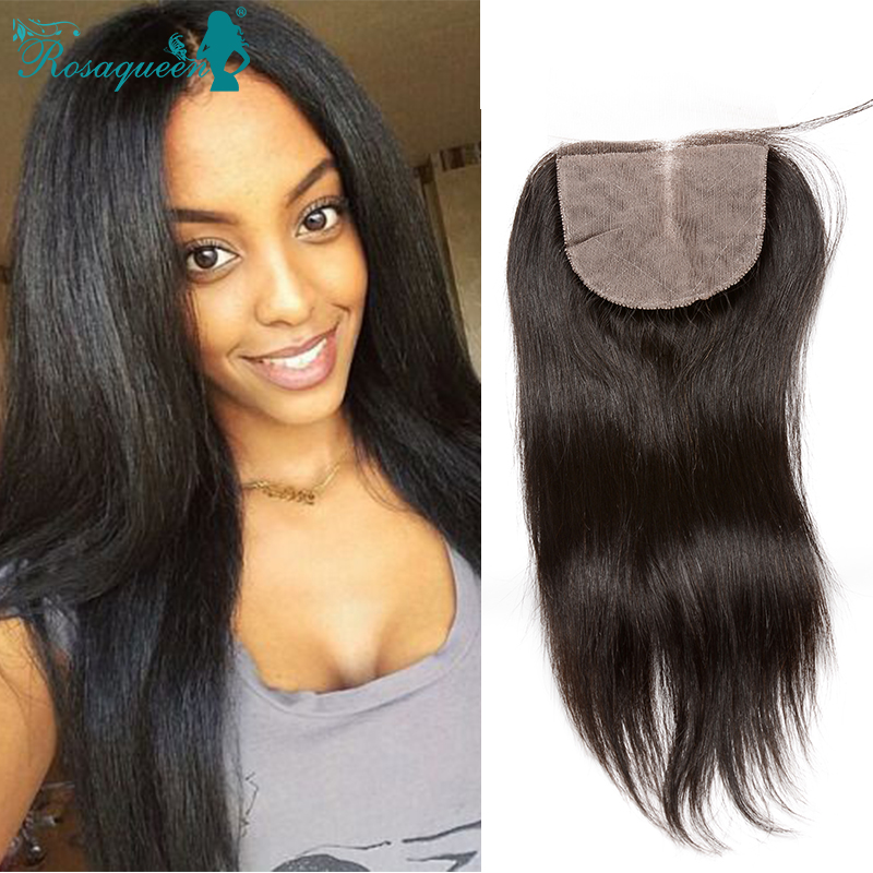 Wholesale Price 6A Silk Base Closure Free/Middle/Three Part Malaysian Virgin Hair Straight 4x4 Silk Base Size With Baby Hair<br><br>Aliexpress