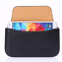 10 PCS/LOT cellphone Multifunctional Horizontally Handbag Belt Pouch leather phone case cover for ALL smartphone