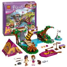BELA 10493 Friends Adventure Camp Rafting Minifigures Building Blocks Set Model Compatible Toys Friends Brick Girl Toys(China (Mainland))