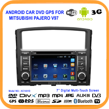 Android4.0 car dvd gps audio video player for MITSUBISHI PAJEROV97 car dvd built in Wifi USB 3G DVR DVB-T/ISDB/ATSC touch screen