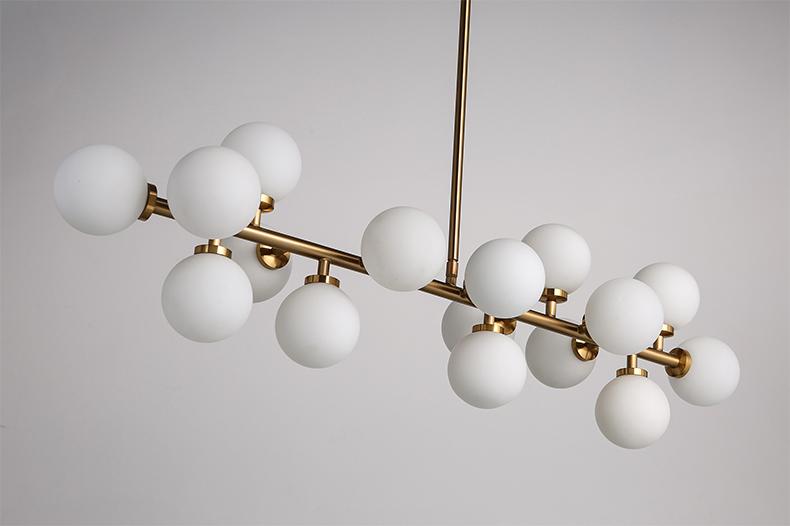 Creative or salle manger lustre moderne en verre lampe for Lustre salle a manger