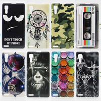 Case For Lenovo P780 Colorful Printing Drawing Phone Protect Cover For Lenovo P780 Fashion Plastic Phone Cases