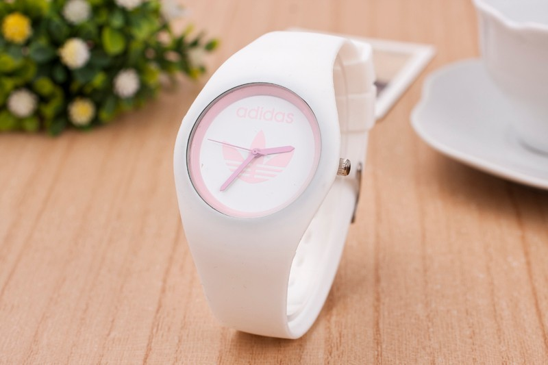 HOT famous brand fashion 3 Leaf Grass Candy colors silicone watches men sport quartz watch women