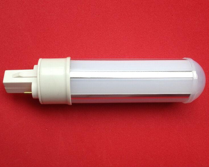 X50 DHL free shipping 12W g23 led bulb g24 2pin 4pin led bulb e27 220V 12W pl light bulb E27 E14 B22 lamp plc light 360 degree(China (Mainland))