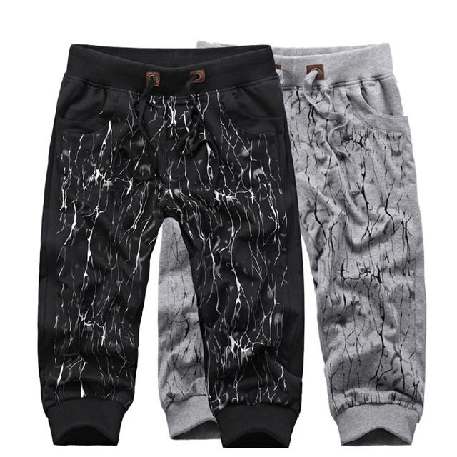 New 2014 Free shipping 2013 hot sale men's summer trousers harem shorts hip-hop tide men cotton leisure loose sports shorts D114