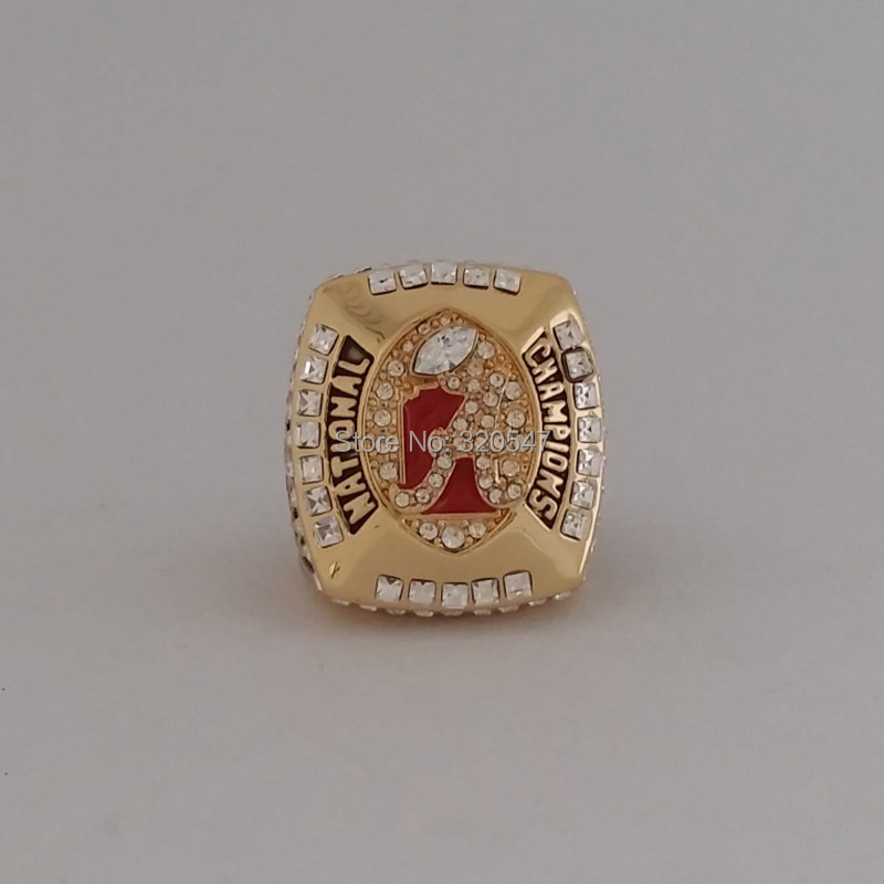 Solid Back 2011 Alabama Crimson Tide Saban SEC NCAA Football National Championship ring size 11 Gift(China (Mainland))