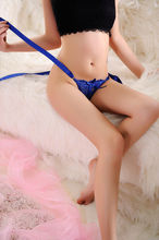 hot General Female Free Size Cotton Lace Thong G-string Lace Sexy underwear women adjustable Panties  V-string Lingerie Thongs(China (Mainland))