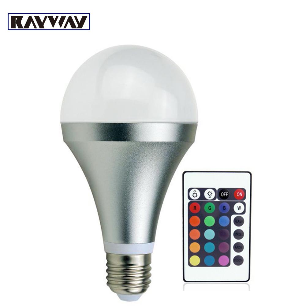 Cheapest E27 3W 10W rgb Led 16 Colors Changing Magic RGB LED Lamp Light Bulb+wireless IR Remote Control free shipping(China (Mainland))