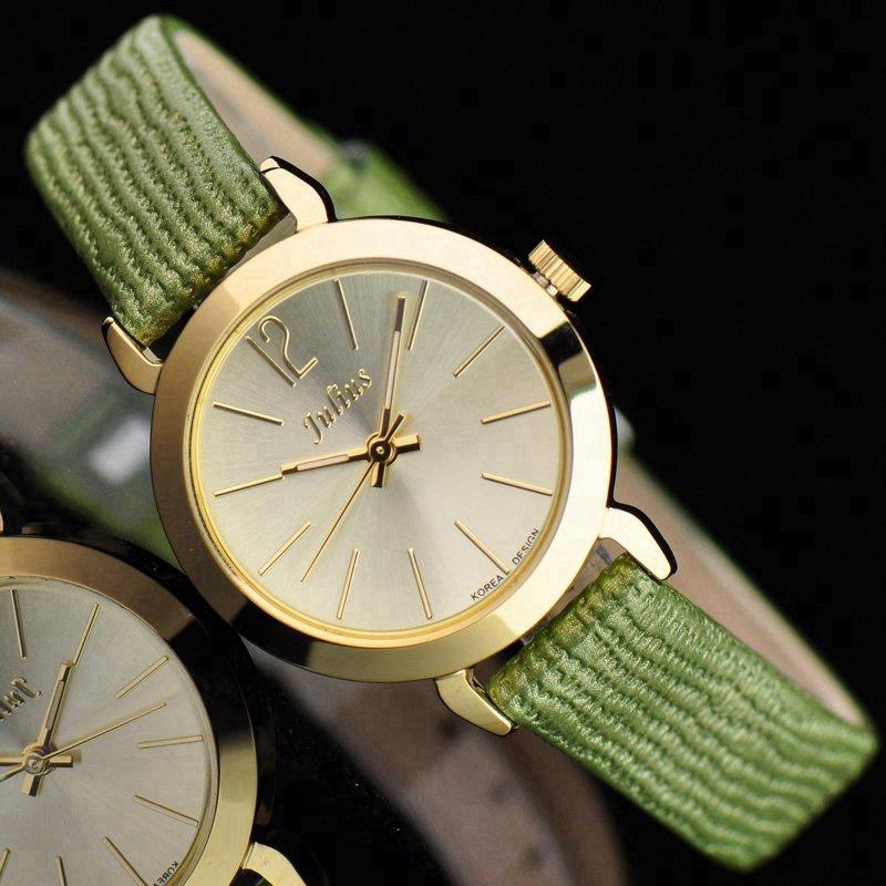 New women simple fashion casual Miyota quartz watch Girls genuine leather good quality best present watches Top brand Julius 732(China (Mainland))