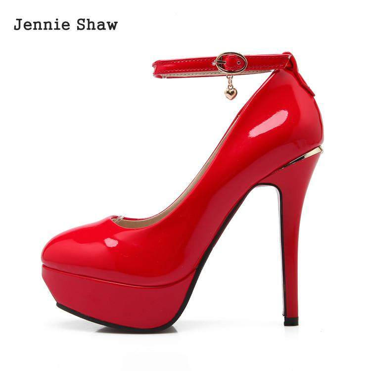 Woman wedding Shoes High Heels shoes Pumps platform red wedding shoes women sys-1025
