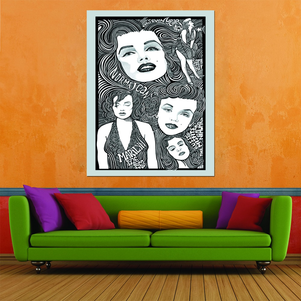 Free shipping 1pc/set Canvas Painting Picture Wall Art Home Decor For Bed Room Living Room Modern Printed(China (Mainland))