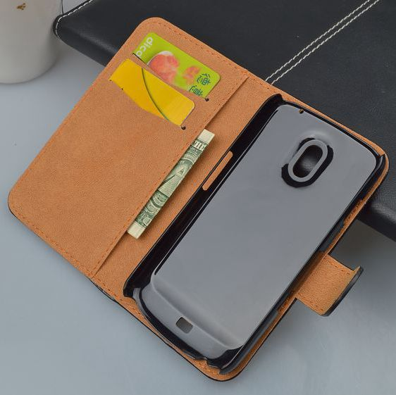 Crazy Horse Stand Wallet Leather Case For Samsung Galaxy Nexus i9250 Flip Cover with ID Card Slots 4 Colors Available(China (Mainland))