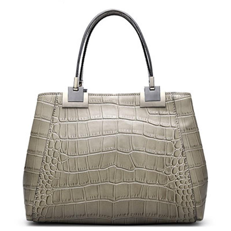 2016 New Europe and America High capacity Crocodile grain WOMEN Cowhide handbag CMX516<br><br>Aliexpress
