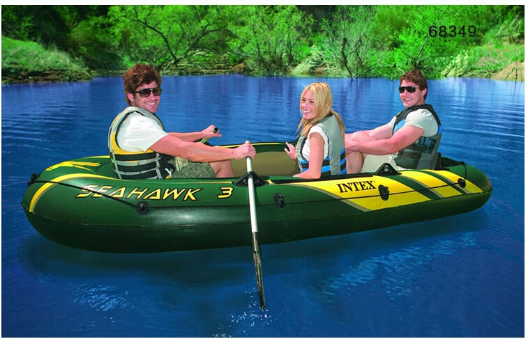 Intex seahawk 3 person inflatable boat 295 137 43cm for 3 person fishing boat