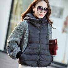 2016 New Fashion Female Women's Winter Coat Jacket Sleeve Wool Knit Splicing Bat Sleeve Cape Short Female Jacket HB007